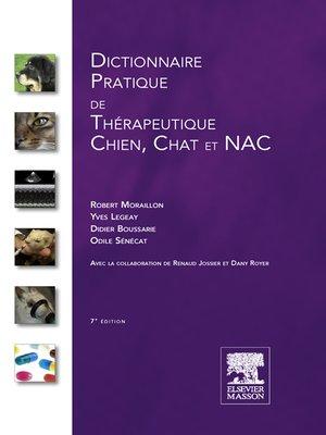 cover image of Dictionnaire pratique de thérapeutique