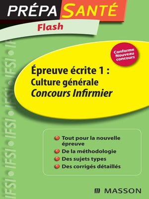 cover image of Flash Épreuve écrite 1