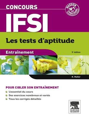 cover image of Concours IFSI Entraînement Les tests d'aptitude