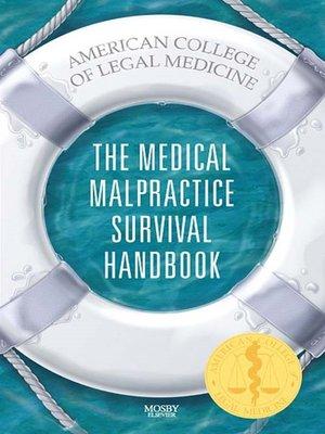 cover image of The Medical Malpractice Survival Handbook E-Book