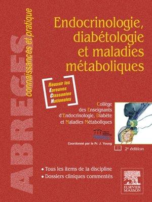 cover image of Endocrinologie, diabétologie et maladies métaboliques