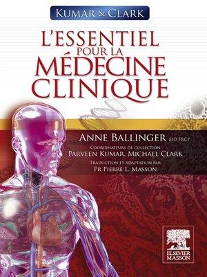cover image of Kumar & Clark. L'essentiel pour la médecine clinique