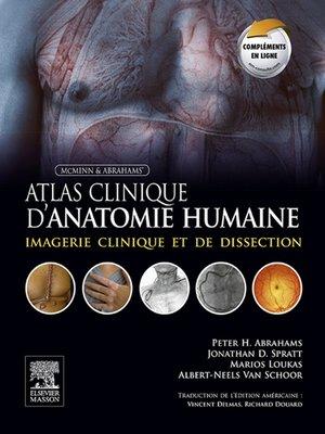 cover image of Atlas clinique d'anatomie humaine de McMinn et Abrahams