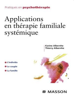 cover image of Applications en thérapie familiale systémique