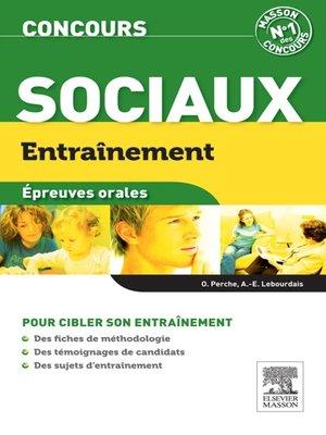 cover image of Entraînement Concours sociaux. Épreuve orale