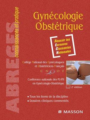 cover image of Gynécologie-Obstétrique