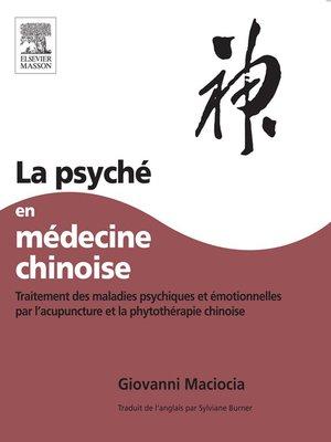 cover image of La Psyché en médecine chinoise
