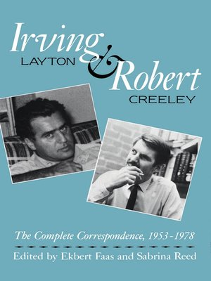 cover image of Irving Layton and Robert Creeley