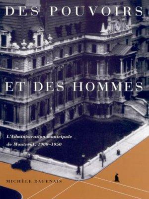 cover image of Des pouvoirs et des hommes