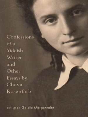 cover image of Confessions of a Yiddish Writer and Other Essays