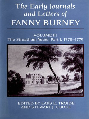 cover image of The Early Journals and Letters of Fanny Burney, Volume 3