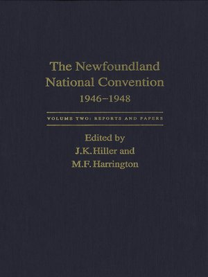 cover image of Newfoundland National Convention, 1946-1948