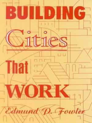 cover image of Building Cities That Work