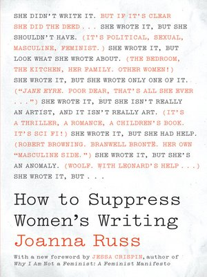 cover image of How to Suppress Women's Writing