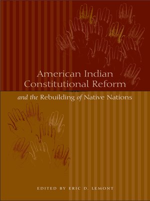 cover image of American Indian Constitutional Reform and the Rebuilding of Native Nations