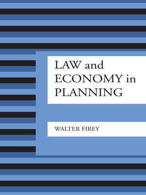 cover image of Law and Economy in Planning