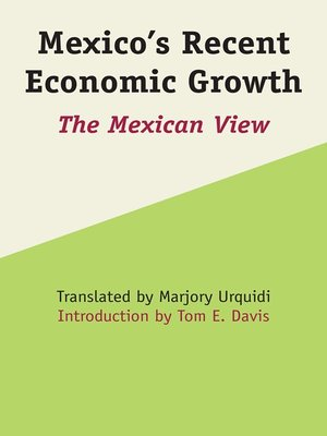 cover image of Mexico's Recent Economic Growth