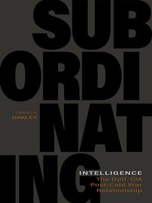cover image of Subordinating Intelligence