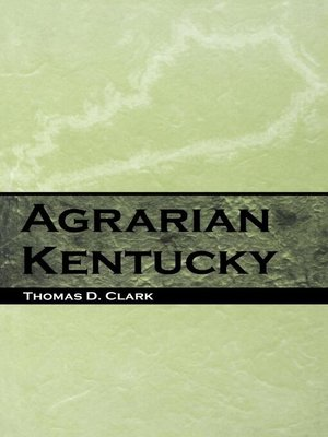 cover image of Agrarian Kentucky
