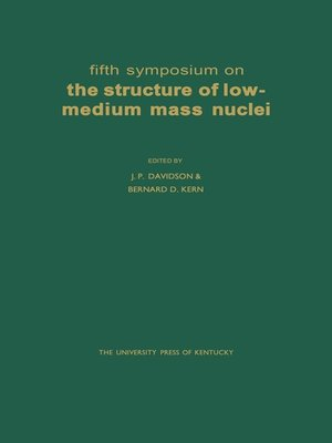 cover image of Fifth Symposium on the Structure of Low-Medium Mass Nuclei