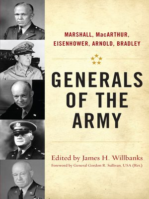 cover image of Generals of the Army