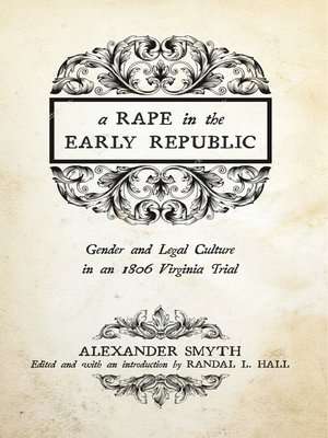 cover image of A Rape in the Early Republic