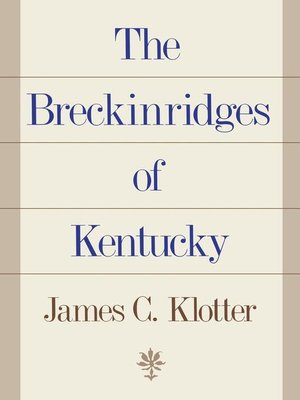 cover image of The Breckinridges of Kentucky