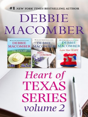 cover image of Debbie Macomber's Heart of Texas Series Volume 2--3 Book Box Set