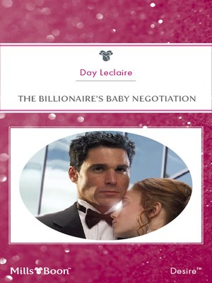 cover image of The Billionaire's Baby Negotiation
