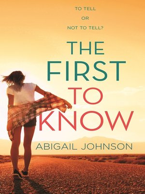 cover image of The First to Know
