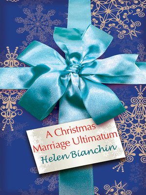 cover image of A Christmas Marriage Ultimatum