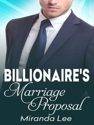 cover image of The Billionaire's Marriage Proposal