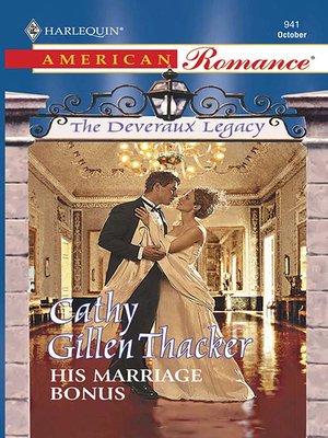 cover image of His Marriage Bonus