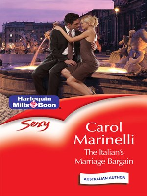 cover image of The Italian's Marriage Bargain