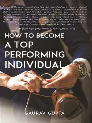 cover image of How to Become a Top Performing Individual