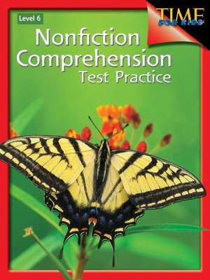 cover image of Nonfiction Comprehension Test Practice Level 6