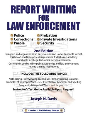 Lawtech publishing grouppublisher overdrive rakuten overdrive cover image of report writing for law enforcement fandeluxe Choice Image