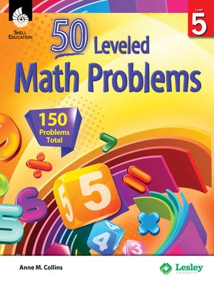 cover image of 50 Leveled Math Problems Level 5