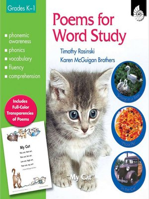 cover image of Poems for Word Study: Grades K–1
