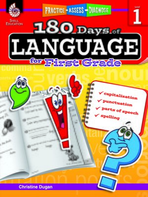 cover image of 180 Days of Language for First Grade: Practice, Assess, Diagnose
