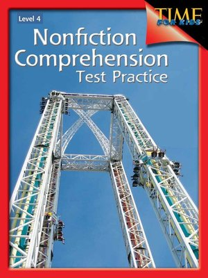cover image of Nonfiction Comprehension Test Practice Level 4