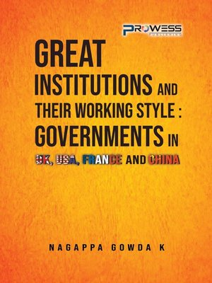 cover image of Great Institutions and Their Working Style