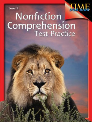 cover image of Nonfiction Comprehension Test Practice Level 5