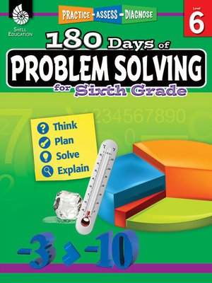 cover image of 180 Days of Problem Solving for Sixth Grade