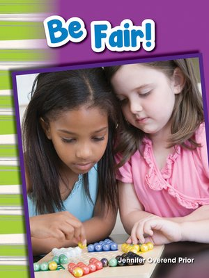 cover image of Be Fair!