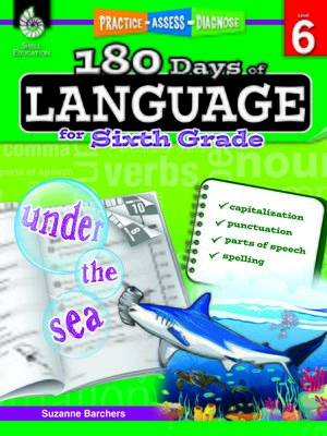 cover image of 180 Days of Language for Sixth Grade: Practice, Assess, Diagnose