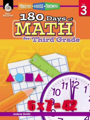 cover image of 180 Days of Math for Third Grade: Practice, Assess, Diagnose