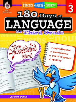 cover image of 180 Days of Language for Third Grade: Practice, Assess, Diagnose