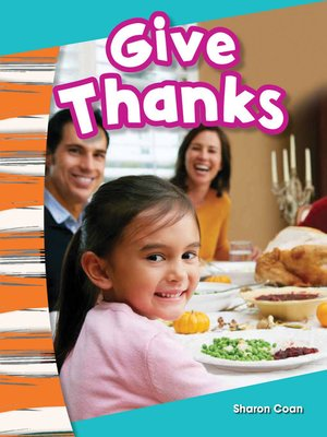 cover image of Give Thanks