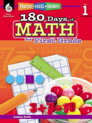 cover image of 180 Days of Math for First Grade: Practice, Assess, Diagnose